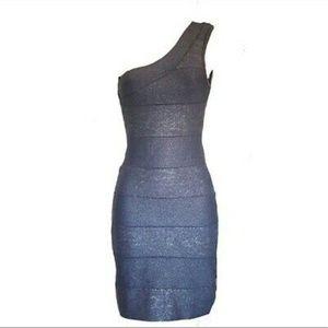 NWOT Bebe grey metallic dress size small